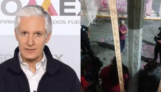 La terrible represión de Alfredo del Mazo a las feministas del Edomex