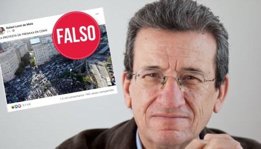 Se vuela la barda Rafael Loret de Mola: difunde foto falsa de FRENA