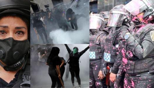 """""""Pinche gata tu salario no te alcanza"""", así agredieron feministas a mujeres policías"""