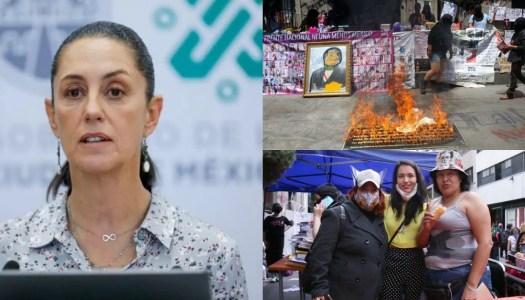 Facturera financia la toma feminista de la CNDH, revela Sheinbaum
