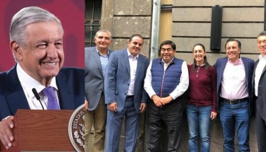 """Gobernadores de la 4T respaldan a AMLO frente a """"Alianza Federalista"""""""
