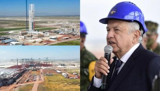 Aeropuerto Felipe Ángeles construido por AMLO, lleva un 40% de avance
