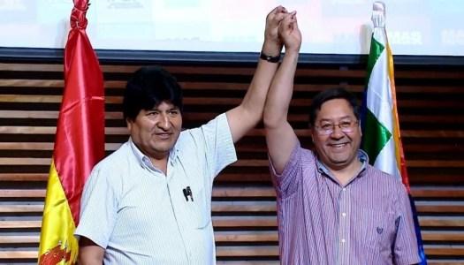 Triunfa el MAS de Evo Morales en las elecciones presidenciales de Bolivia