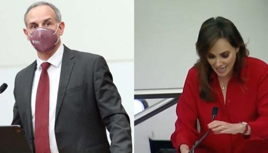 López-Gatell pone en su lugar a Lilly Téllez y da cátedra a opositores