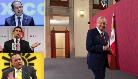 """PRI, PAN, y PRD reviven pacto y se unen al """"Sí por México"""" contra AMLO"""