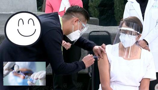La primera vacuna en México fue para María Irene Ramírez, enfermera de la CDMX
