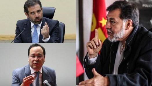 Noroña exige juicio político para Lorenzo Córdova y Ciro Murayama