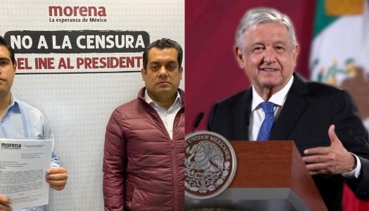 Morena combatirá en tribunales la censura del INE a AMLO en mañaneras