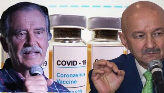Nada de privilegios: Fox y Salinas hacen fila como todos para recibir la vacuna
