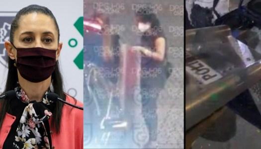 Sheinbaum exhibe a abogada que llevó guaruras armados a marcha feminista