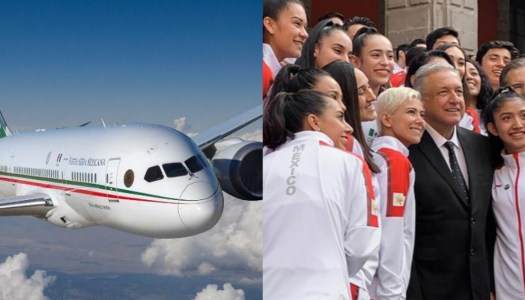Con AMLO, el lujoso avión presidencial llevará a deportistas a Tokio 2021