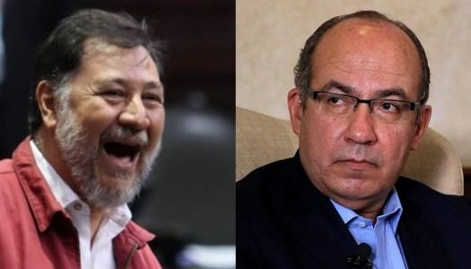 Noroña a Calderón: Quiero que te sanes para llevarte a la cárcel