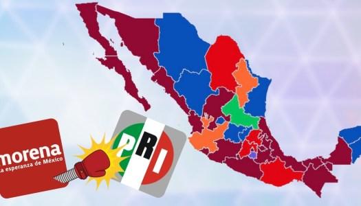 Mexicanos echan al PRI de las  gubernaturas y se las dan a Morena