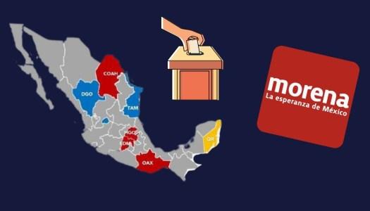 Morena se perfila para ganar 4 de las 6 gubernaturas en 2022
