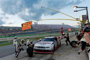 Keselowski Wins Rain-Shortened Nationwide Race