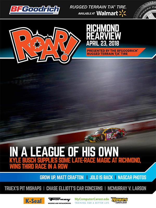 ROAR Richmond Rearview April 2018