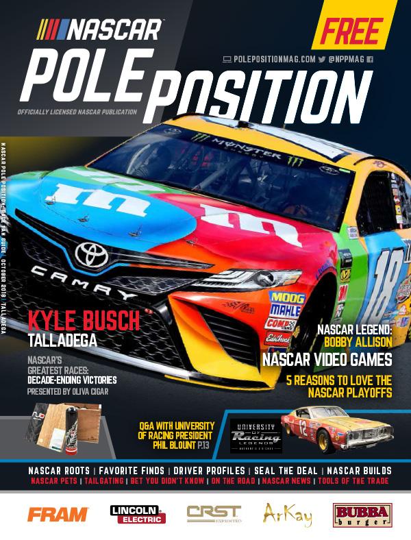 NASCAR Pole Position Talladega in October 2018