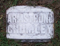 Special Police Officer Armstrong Chumley's grave site.