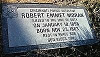 Detective Robert Emmet Moran's Replacement Grave Marker