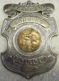 Sergeant Anthony H. Overberg's Badge
