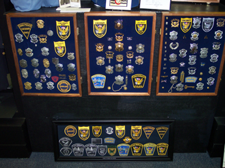 Collectors have loaned their caches of badge and patch collections to the museum to share with our visitors.
