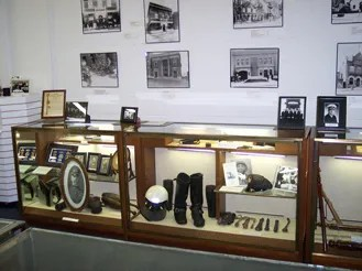 Displays include depictions of what it took to protect our territorities in times long ago. Many police officers today will recognize the historical items on display in our musuem.