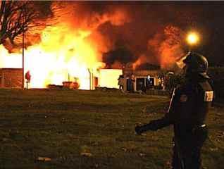incendie explosion