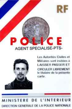 police scientifique carte professionnelle 1