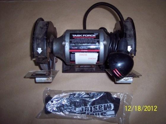 Task force Bench grinder & shop bag