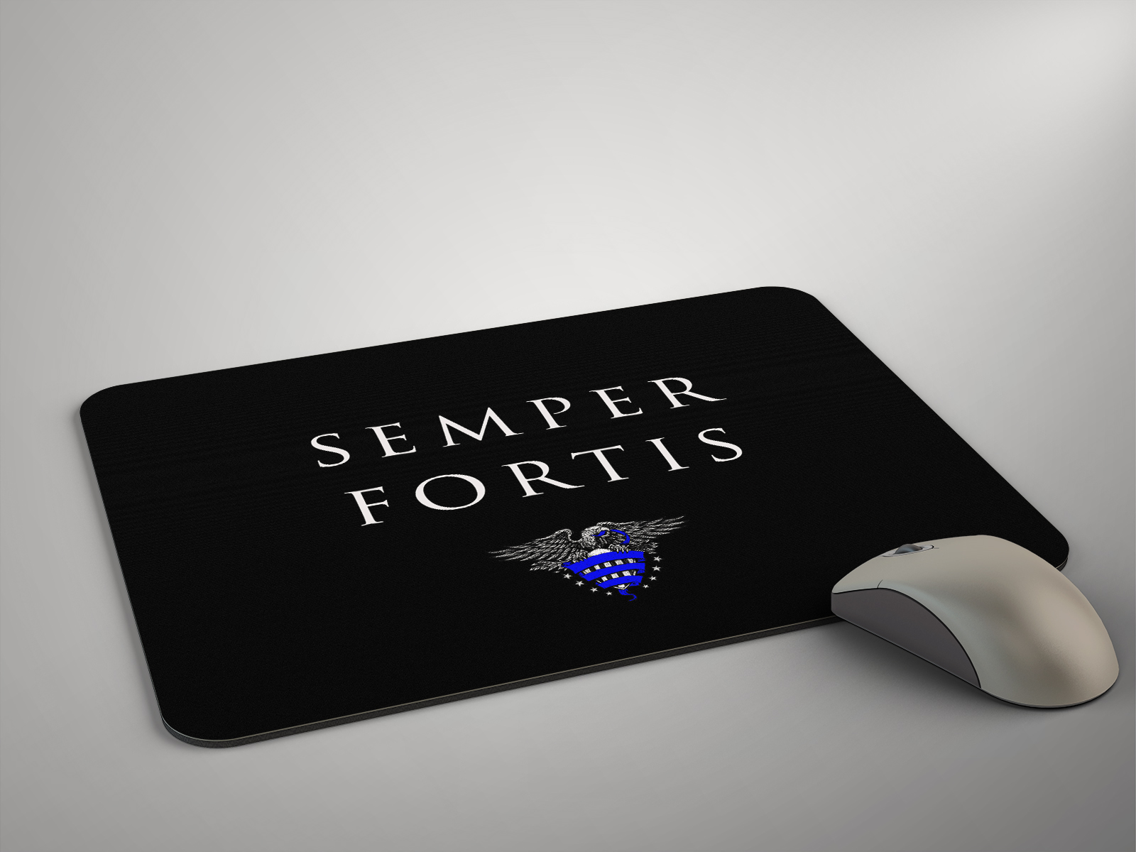 Police Life Mouse Pad Police Motto Semper Fortis Police Life