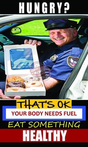 POLICE OFFICER HEALTHY EATING POSTER