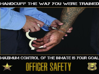 Police Handcuffing Poster