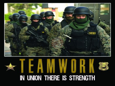 teamwork motivation police poster