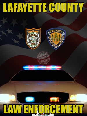 Lafayette County Florida Law Enforcement Poster