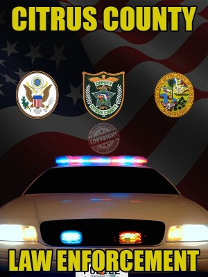 Citrus County Florida Law Enforcement Poster