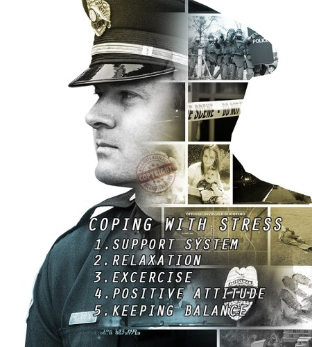 police officer stress poster