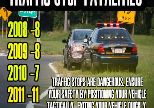 traffic stop safety poster