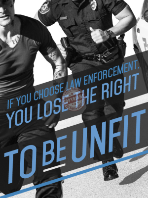 police fitness poster