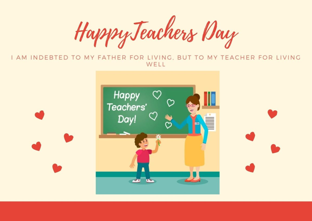 Happy Teachers Day Quotes 2020 : Teachers Day Wishes Greeting Card, Messages