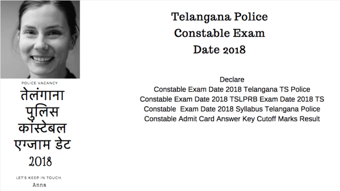 Telangana Police Constable Exam Date Admit Card Question Paper Answer Key Cutoff Result