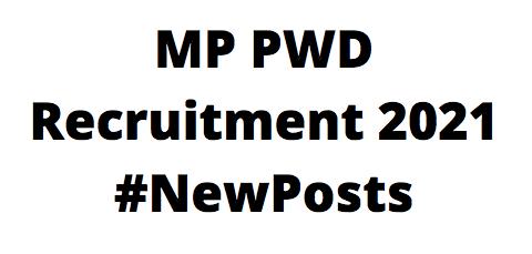MPPWDRecruitment 2021