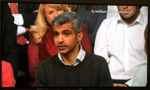 Deven Ghelani, CEO Policy in Practice, appeared on The Big Questions presented by Nicky Campbell from Manor Church of England Academy in York to debate Is Welfare Reform Working?
