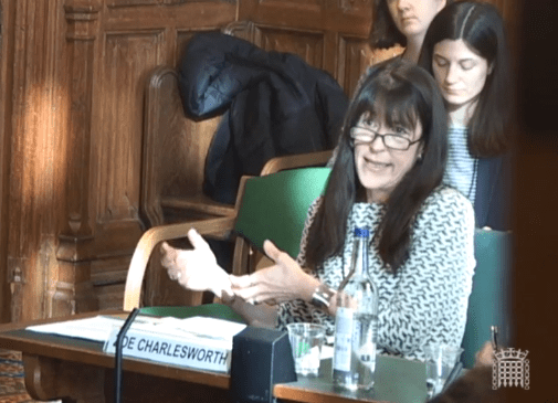 Zoe Charlesworth, Policy in Practice, give evidence to the Work and Pensions Committee on Universal Credit: natural migration