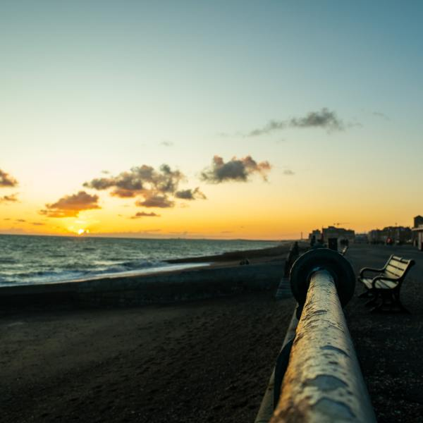 Photo by Rhys Kentish on Unsplash of sunset in Brighton to illustrate optimism about collecting council tax after COVID-19