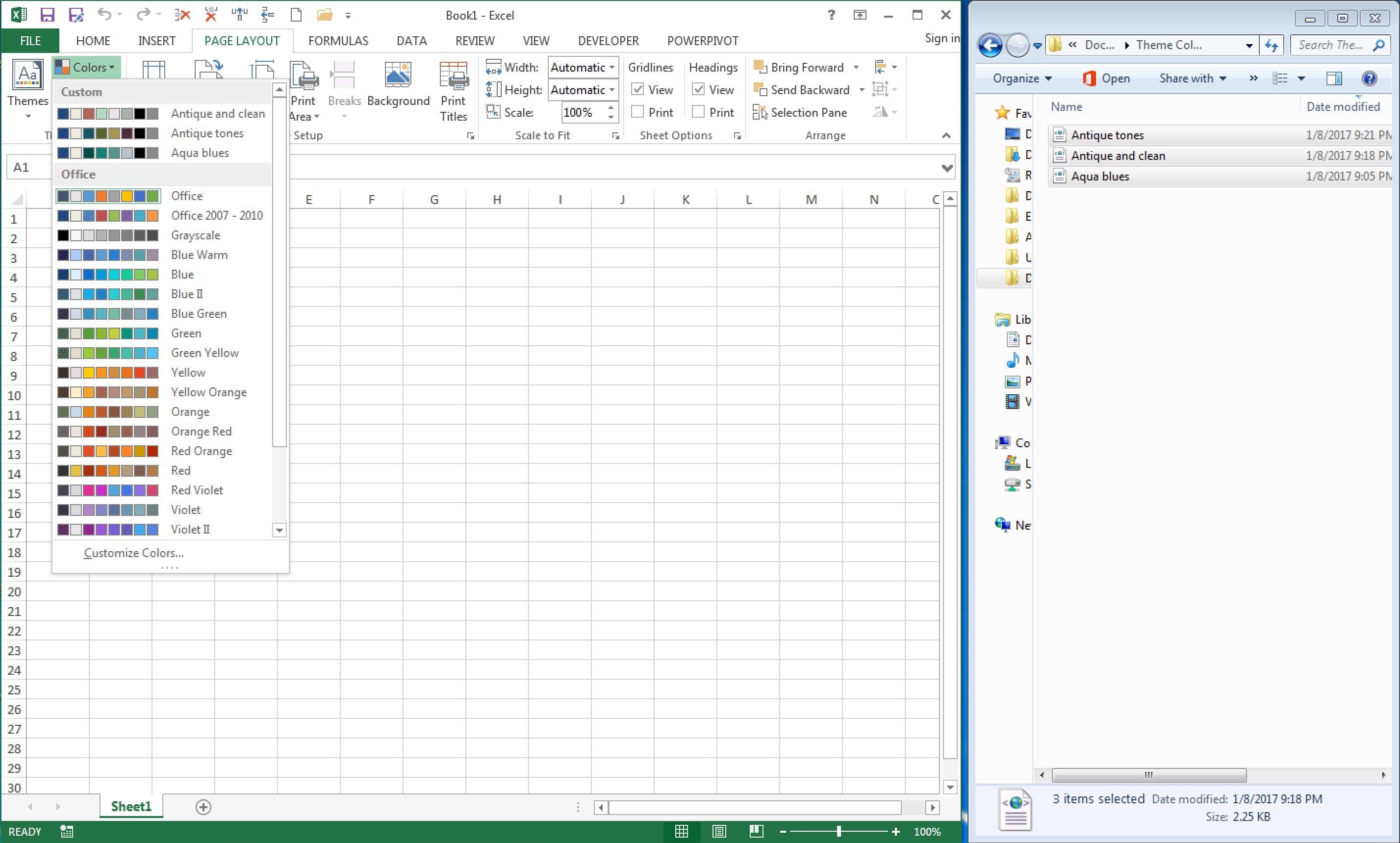 150 Color Palettes For Excel