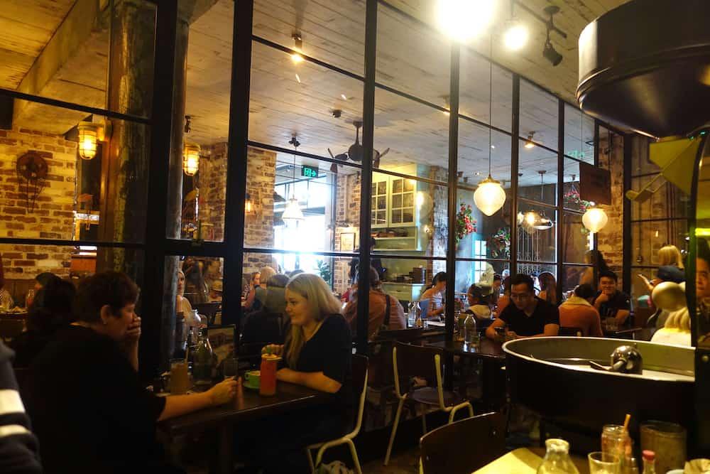 The Cafe inside