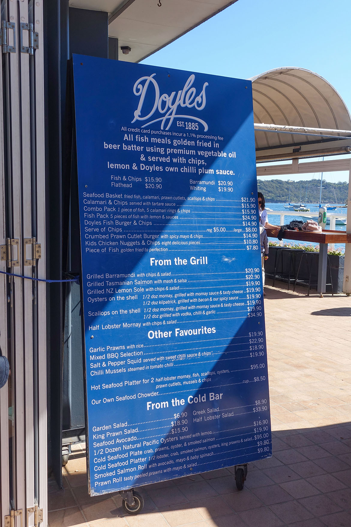 屈臣氏灣 Watsons Bay Doyles Fishermans Wharf
