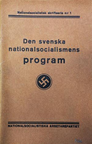 """Lindholmsrörelsen och """"Den svenska nationalsocialismens program 1933"""""""