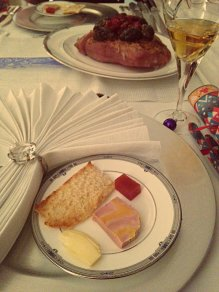 Foie Gras quince jelly starter Christmas dinner