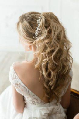 Локоны для свадебной прически Москва